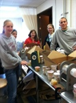 Cornell Chapter Volulnteers at Food Bank