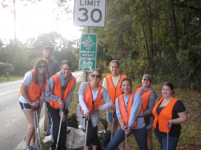 UF Road Clean Up Service 11/2/11