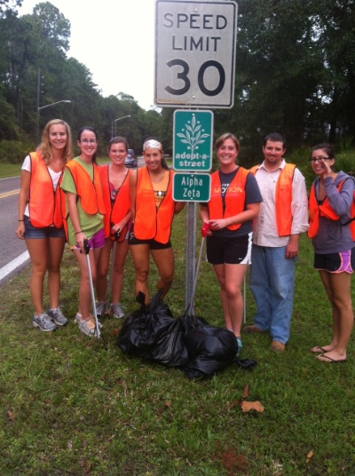 UF Road Cleanups 9/12/12, 9/24/12, 9/29/12