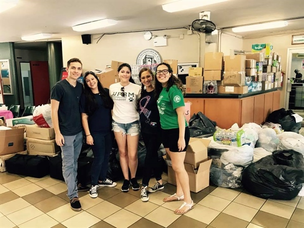 Collecting Donations: Hurricane Matthew Victims