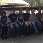Alpha Zeta at Fresno State helps the Fresno Chaffee Zoo in their Zoo Gardens!