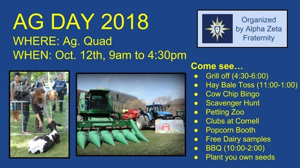 Cornell AZ Puts on Ag Day at CALS October 12, 2018