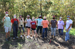 North Carolina: Haw River Pollinator Garden Clean-up
